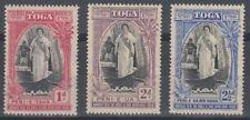 TONGA 1938 20TH ANNIV. QUEEN SALOTE'S ACCESSION MINT SET (x3) (ID:243/D59446)