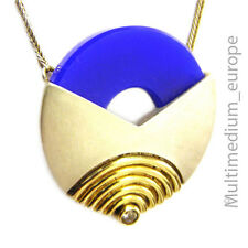 Modernist Silber Collier im Art Deco vergoldet Halskette silver pendant necklace