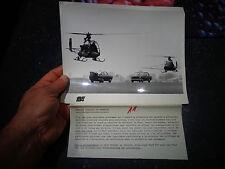 Ancienne Photographie FIAT 124 et 850 coupé Crash Test guidée par Hélicoptère