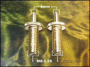 Conversion Bridge Posts Gold 4mm x M8 fits Epiphone & others  EZPZ GUITAR PARTS