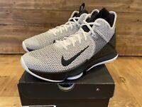 Nike Men's Lebron Witness IV Basketball Shoes, Size 9, White Black