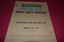 Wisconsin VE4 VF4 Engine Parts & Operator Manual YABE8