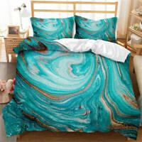 Great Dreamy Blue Landscape 3D Quilt Duvet Doona Cover Set Pillow case Print
