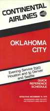 Continental Airlines Oklahoma City timetable 12/15/75 [1023] Buy 4+ save 50%