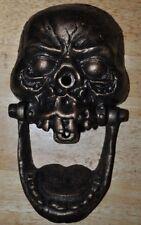 Cast Iron Door Knocker Knock-Jaw Skull Authentic Foundry Halloween Decor Greets