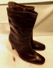 Hillard and Hanson Cordovan Leather Women's Fashion High Heel Boots, size 9M