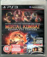 Mortal Kombat Komplete 9  Game of the Year  'New & Sealed'   *PS3*
