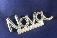 1968 1969-1972 Chevy  Chevrolet Nova Trunk Deck Lid Emblem Chrome Badge Script