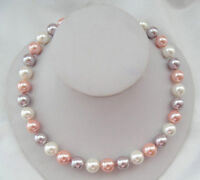 """Genuine AAA 8/10/12/14mm Multicolor South Sea Akoya Shell Pearl Necklace 18"""""""