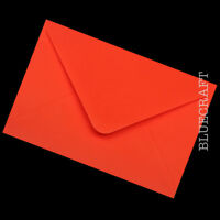 100 x A6 C6 Poppy Red 100gsm Envelopes 114 x 162mm - 4.48 x 6.38 inches