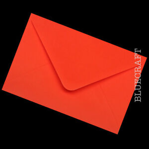 50 pack x A6 C6 Premium Poppy Red 100gsm Envelopes 114 x 162mm - 6 x 4 inches
