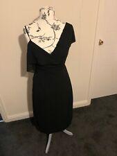 BNWT SIZE 14 Black Chiffon Cold Shoulder Midi Boohoo Dress