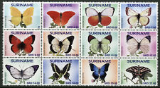 Suriname Butterflies Stamps 2019 MNH Butterfly Insects 12v Block