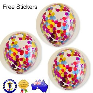 3x THE WIGGLES BIRTHDAY BALLOONS 11' CONFETTI METALLIC CLEAR PARTY SUPPLIES