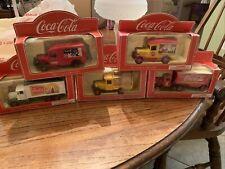 Coca Cola Die Cast Vintage Santa Delivery Trucks, England 1/64 Scale Lot of 5