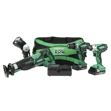 Hitachi 4-Tool 18-Volt Power Tool Combo Kit with Soft Case (Charger Included and