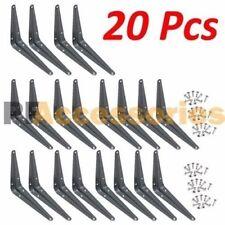 "20 Pcs Heavy Duty 8"" x 10"" inch Metal Shelf Brackets Grey Book Contertop Support"