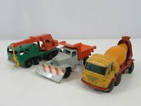 Lesney Foden Concrete Truck Scammel Snow Plough 8 Wheel Crane loose Lot of 3