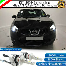 KIT LED H7 NISSAN QASHQAI J10 6500K CANBUS 12000LM LUMEN MONO LED LENTICOLARE