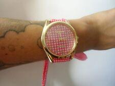 Montre bracelet foulard motif étoile rouge blanc rétro pinup blanche originale