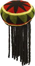 ADULT JAMAICAN RASTA HAT WIG WITH DREADLOCKS BOB MARLEY FANCY CARIBBEAN DRESS
