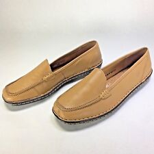 BORN Women's Loafers Slip On Flats Tan Brown Leather Shoes Size 7M 38 W2132