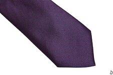 230$ Brioni Tie 100% Silk Handmade Purple Dots Luxury!