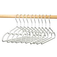 "10//30//60P Sliver 16.5/""Aluminum Wire Hangers Clothes Hanger NonSlip Coat Storage"
