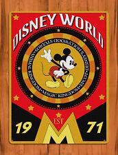 "TIN SIGN ""Walt Disney World '71"" Disney Movie Art Wall Decor"