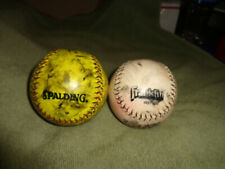 lot of 2 softballs. spalding and frankfin marked up