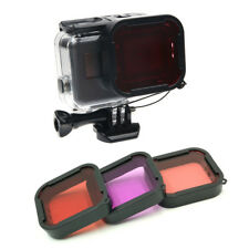 3 color Filter Underwater Red Magenta Snorkel Color Filters for GoPro HERO 5 6 7