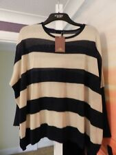 Top Queens batwing loose fit top, Size L, New with tags, Navy and beige stripes