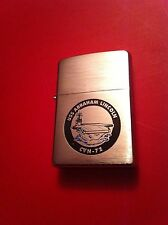 ZIPPO NAVY Lighter USS ABRAHAM LINCOLN ( CVN 72 ) Unused ESTATE FIND combed ship