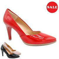 Mujer Zapatos de Tacón Piel Charol Novia 8-cm Estilete Hecho En España - Big
