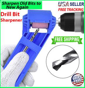 Drill Bit SHARPENER Corundum Grinding Wheel Titanium Portable Powered Tools US