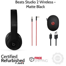 Beats Studio 2.0 Wireless MATTE BLACK Bluetooth Over Ear Headphones