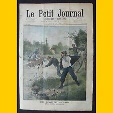 LE PETIT JOURNAL Supplt illustré Soldats sauveteurs Faux monnayeurs 24 août 1902