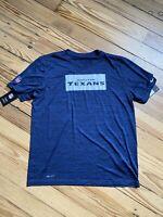 Men's Houston Texans Nike Navy Sideline Legend Velocity Performance T-Shirt