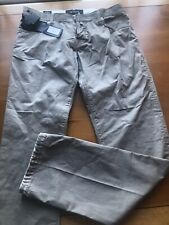 Men's Kiton Napoli 100% Cotton Light Long Pants Size 35, Made In Italy - Look