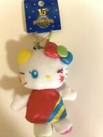 Hello Kitty Sanrio Mascot Holder Stuffed Toy USJ 15th Anniversary Limited Rare