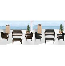 Arredo divano poltrone tavolino nero o marrone polyrattan cuscini bianchi|gap