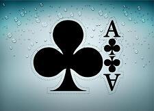 Autocollant sticker voiture jeton poker table casino jeux as de treffle carte B