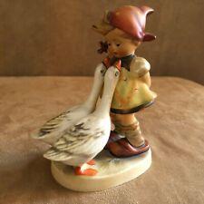 Goebel Hummel Figurine Goose Girl Geese 47 vintage Western Germany stamp bee