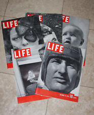 Lot of 5 Life Magazines - 1937 October and November