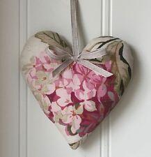 Heart in Laura Ashley Hydrangea fabric     GIFT