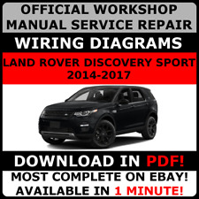 OFFICIAL WORKSHOP Service Repair MANUAL LAND ROVER DISCOVERY SPORT 2014-2017 #