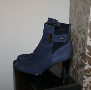 AQUATALIA RUSSELL & BROMLEY Gorgeous Ruby Dry ankle boots size UK 4.5 in Blue