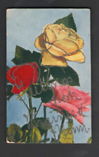 Vintage GREETINGS FROM BRAINERD MINNESOTA Glitter Postcard WG MacFarlane Roses