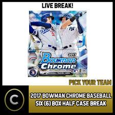 2017 Caja de béisbol 6 BOWMAN CHROME (mitad Case) romper #A519 - Elige Tu Equipo