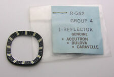 NOS Bulova Accutron 214 Spaceview Cushion Shaped Calibrated Reflector Ring 7323